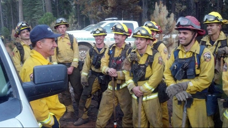 CAL FIRE Chief and crew