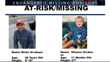 Authorities issue Endangered Missing Advisory for 11 month old taken by father