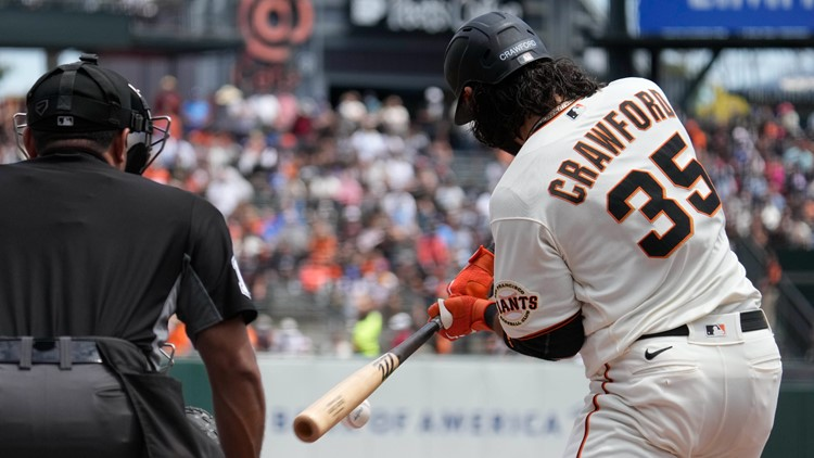 Crawford back with 2-run double as Giants blank Dodgers 5-0