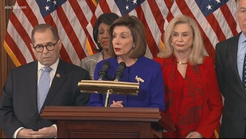 House Democrats unveil articles of impeachment against President Trump | RAW