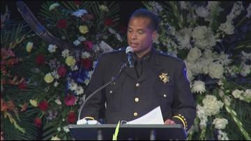 Sacramento Police Chief Daniel Hahn remembers Officer Tara O'Sullivan at memorial service