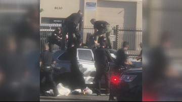 Witness records ending of wild chase in South Sacramento | RAW
