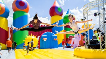 World's largest bounce house makes a stop in Sacramento
