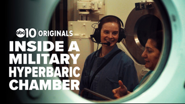 Inside one of the military's largest hyperbaric chambers