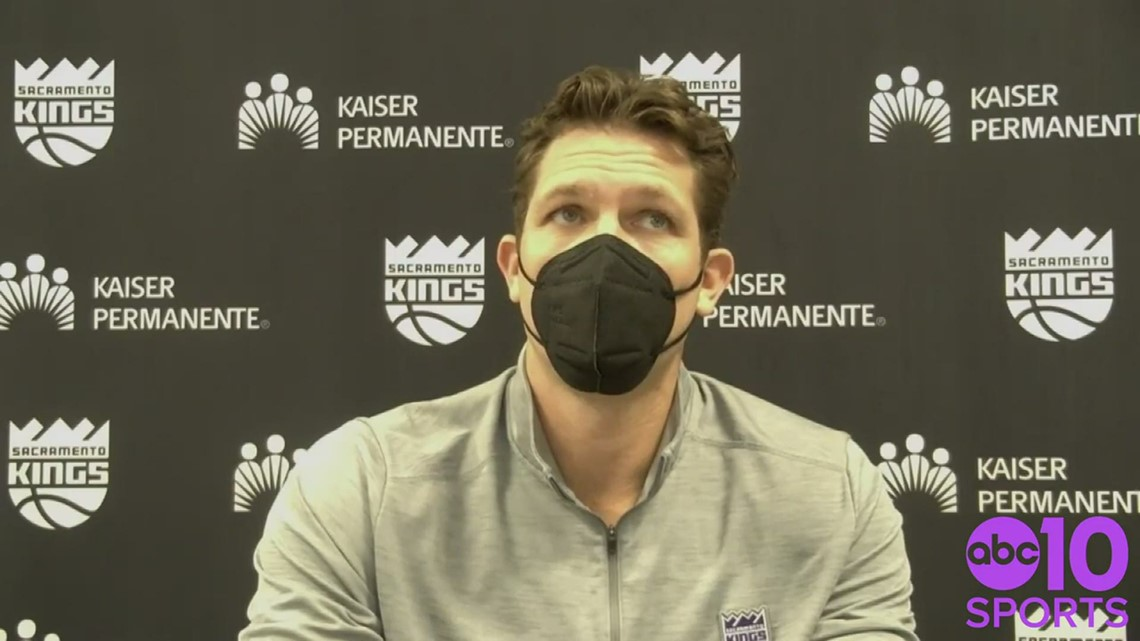 Coach Luke Walton analyzes Kings 127-118 loss to Nets, Sacramento's losing skid reaching 8-games