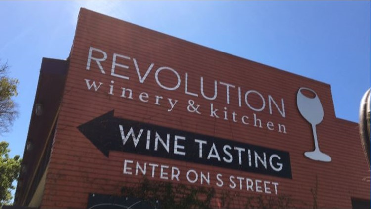 Revolution makes a lot of its own wine right on premisis.