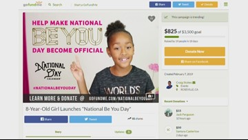 """Roseville 3rd grader fundraising to create a 'National Be You Day"""""""