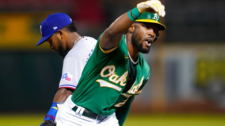 Olson's 4 RBIs lead A's past Rangers for 3rd straight win