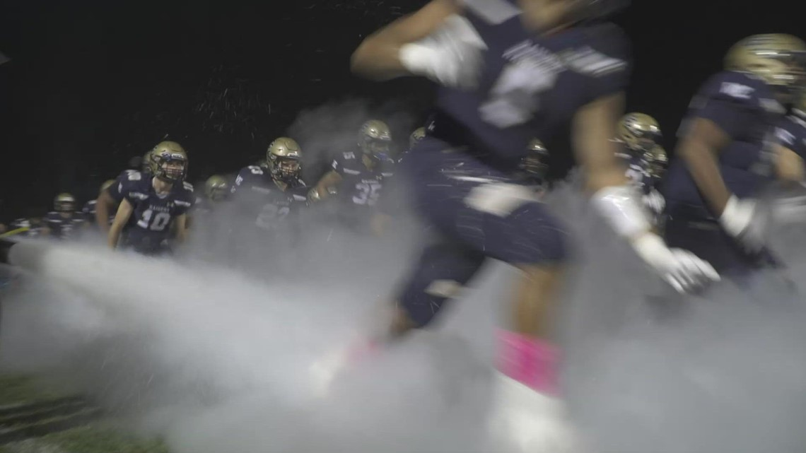The Central Catholic Raiders blew out the Manteca Buffaloes, 56-33