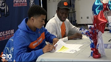 Folsom Bulldogs Kaiden Bennett and Joseph Ngata sign National Letters of Intent | RAW VIDEO
