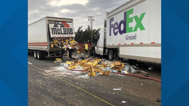 At least 1 death reported in multi-vehicle crash on NB Highway 99 near Galt; all lanes shut down