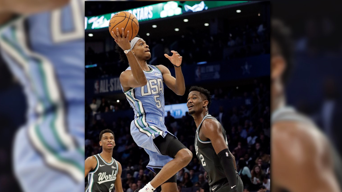 Kings shine in Rising Stars game, USA tops World 161-144