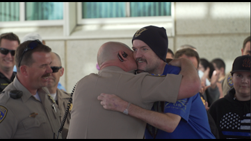 CHP Officer gets a Yuba City 'Welcome Home' after 4 months in the hospital