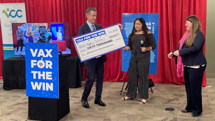 One winner from Sacramento County selected in second round of $50,000 'Vax for the Win' lottery prizes