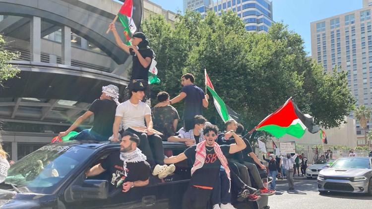 'Free Palestine' march draws hundreds to Midtown Sacramento