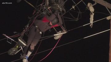 Paraglider rescued after being entangled in PG&E powerlines in Olivehurst   UPDATE