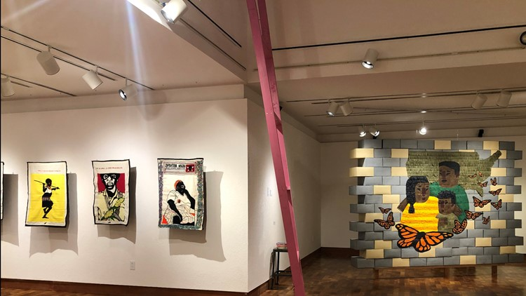 Latinx Art Exhibit at Stockton's Delta College focuses on humanitarian crisis at the border