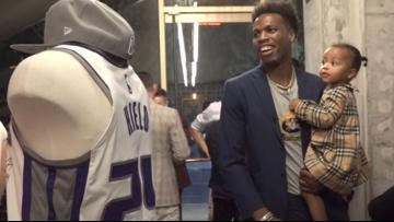 Sacramento Kings guard Buddy Hield and mother host Bahamian hurricane relief dinner