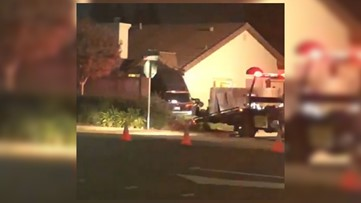 Vehicle vaults into Roseville home