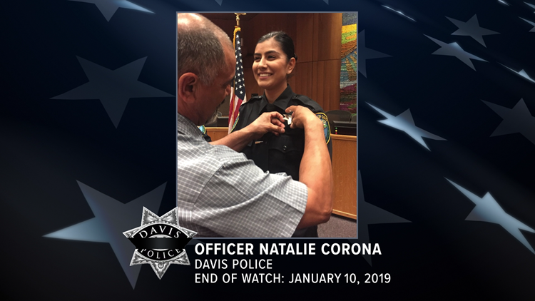 Davis Officer Natalie Corona's watch comes to an end, laid to rest in Arbuckle