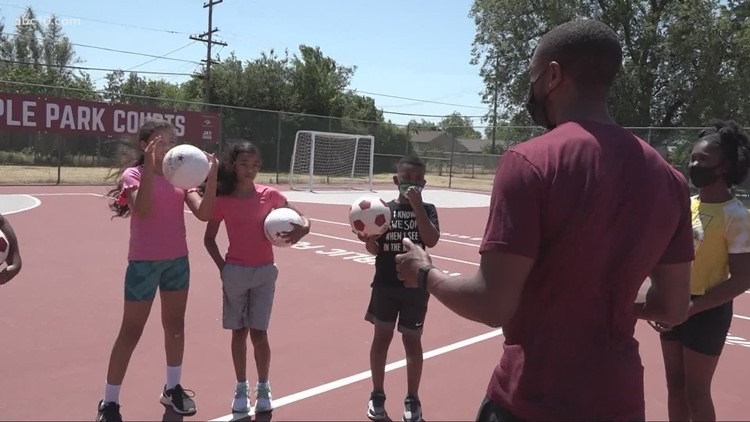 Sacramento Republic FC star Jordan McCrary teams up with Architects of Hope to mentor local kids