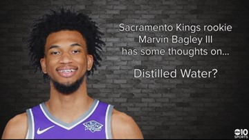 Kings rookie Marvin Bagley III has some thoughts on ... distilled water?