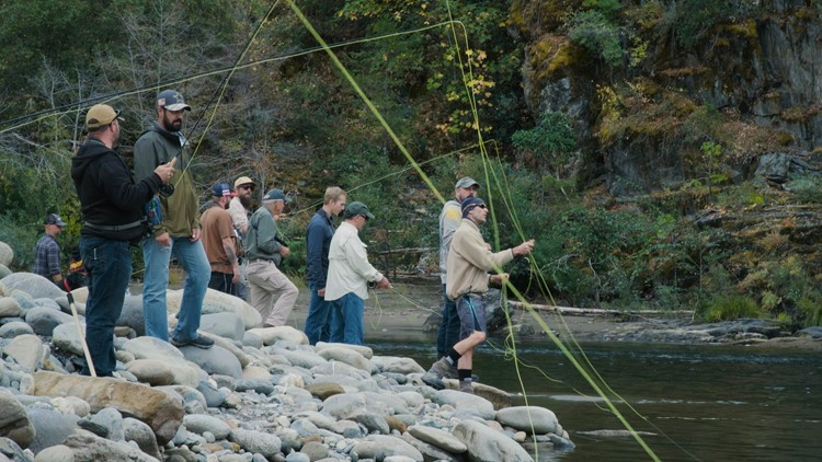 How fly fishing is helping veterans open up   Bartell's Backroads
