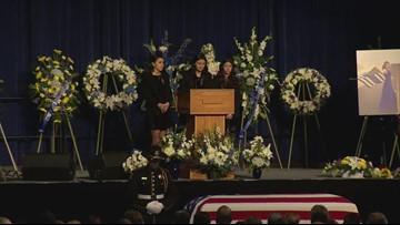 Natalie Corona's sisters speak at her memorial service