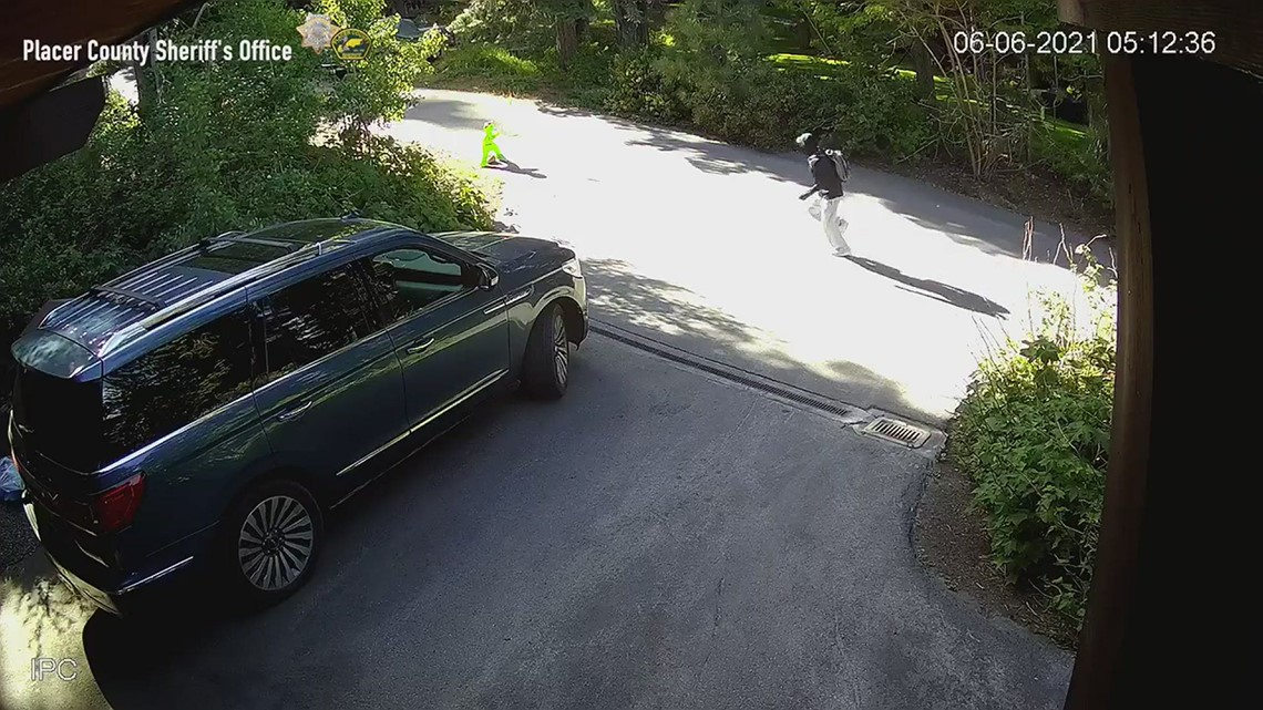Surveillance video of Placer County sheriff person of interest in shooting death of 70-year-old man