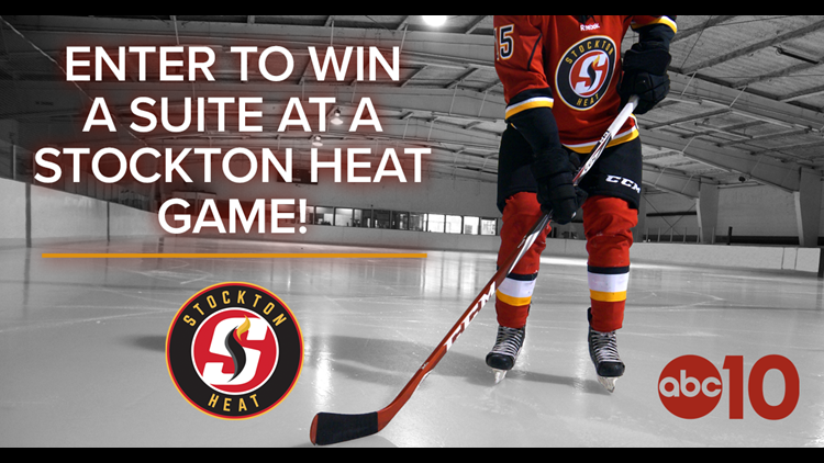 Stockton Heat Official Game Hockey Puck with Holder