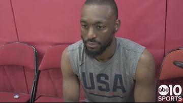 Kemba Walker embracing role as senior member of Team USA, praises Kings PG De'Aaron Fox