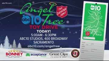 Bring those gifts to the Salvation Army's Angel Tree Toy Drive