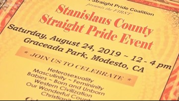 'Straight Pride' event will host speaker series and 'parade' in Modesto