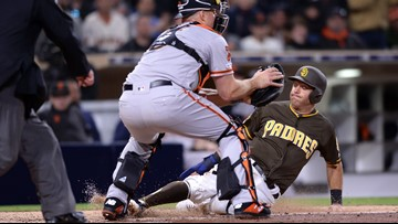 Giants score first run of new season, fall to Padres 4-1
