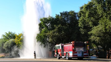 Citrus Heights crash ruptures water main flooding nearby yards, garages