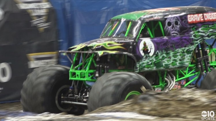 Sacramento's first-ever monster truck backflip stunt executed at Golden 1 Center