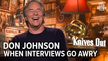 Knives Out: Funny Don Johnson Interview goes Awry   Extra Butter Interview