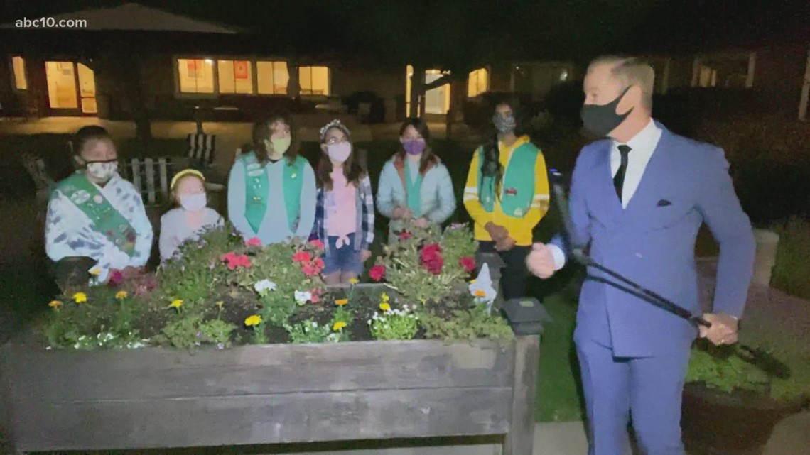 Local Girl Scout troop's sensory gardening project helps seniors in assisted living home