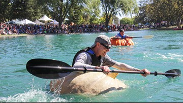 'It's quirky. It's odd.' and 'We're really proud of it.'    Elk Grove's Giant Pumpkin Festival