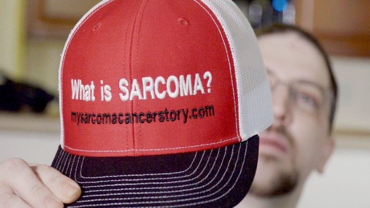 Kevin Roster created merchandise to raise awareness about Sarcoma