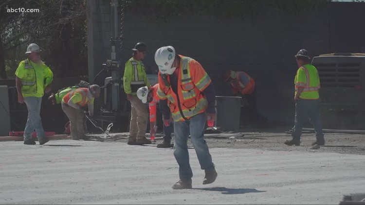 CalTrans crews working to fix Hwy. 99 sections in just a few days