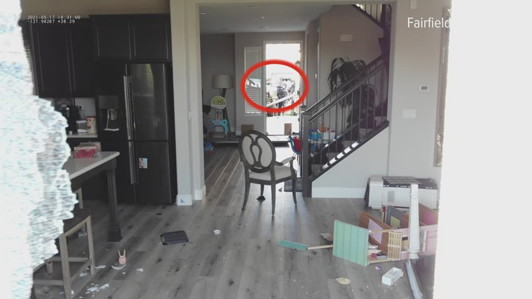 Watch: Man destroys Fairfield police drone while barricaded in house