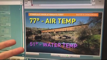 Cold water warning! Air temps are high, waters are still cold