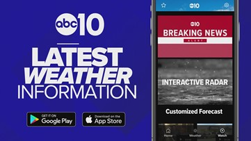 Get the latest weather with the ABC10 phone app