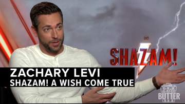 Zachary Levi fulfills childhood dream with Shazam! | Extra Butter Interview
