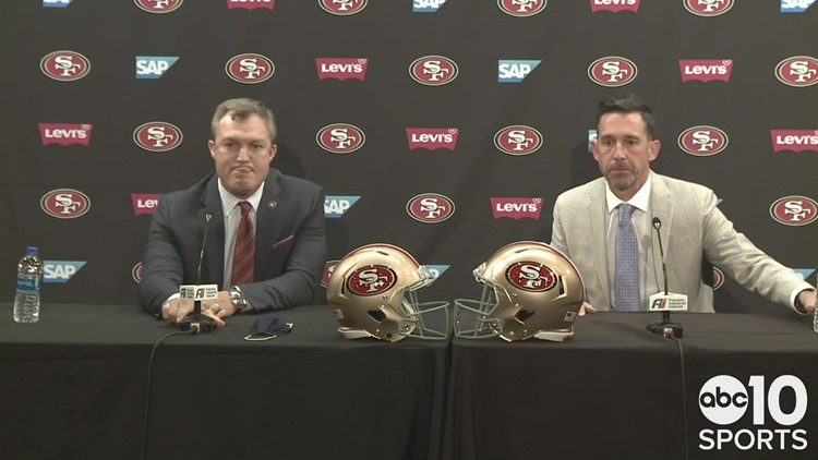 49ers coach Kyle Shanahan and GM John Lynch explain the selection of QB Trey Lance in the NFL Draft