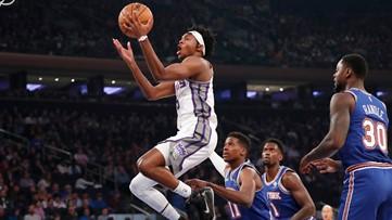 Fox, Hield lead Kings to 113-92 rout of Knicks