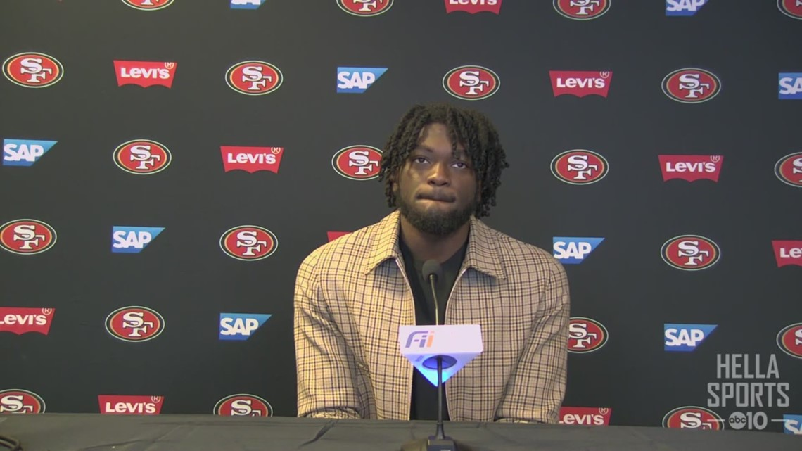 49ers rookie WR Brandon Aiyuk talks about his first NFL game experience in win over Jets