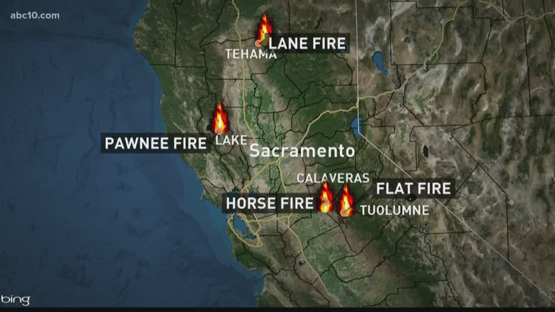 Lane Fire Map.Wildfire Watch Thousands Flee As Fires Burn Across Northern