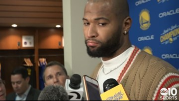 DeMarcus Cousins on making postseason debut in Warriors Game 1 win over Clippers